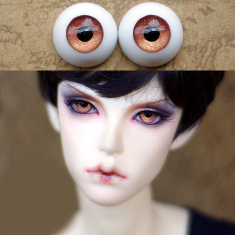 Ren brass doll eyes  for 1/3 1/4 1/6 bjd Dolls toys sd eyeball 10mm 16mm 18mm 20mm Acrylic EYEs for dolls doll accessary handmade chinese ancient doll tang beauty princess pingyang 1 6 bjd dolls 12 jointed doll toy for girl christmas gift brinquedo