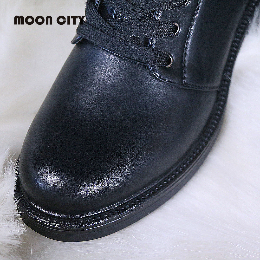 Image 4 - 2019 women Fall boots flat leather boots women's pearl round head short boots for women Martin boots wedge motorcycle boots-in Ankle Boots from Shoes
