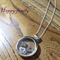 L Love&Family Petites Necklace Women Original 925 Sterling Silver Jewelry Clear CZ Necklaces&Pendants For Women Large Size 2.5cm