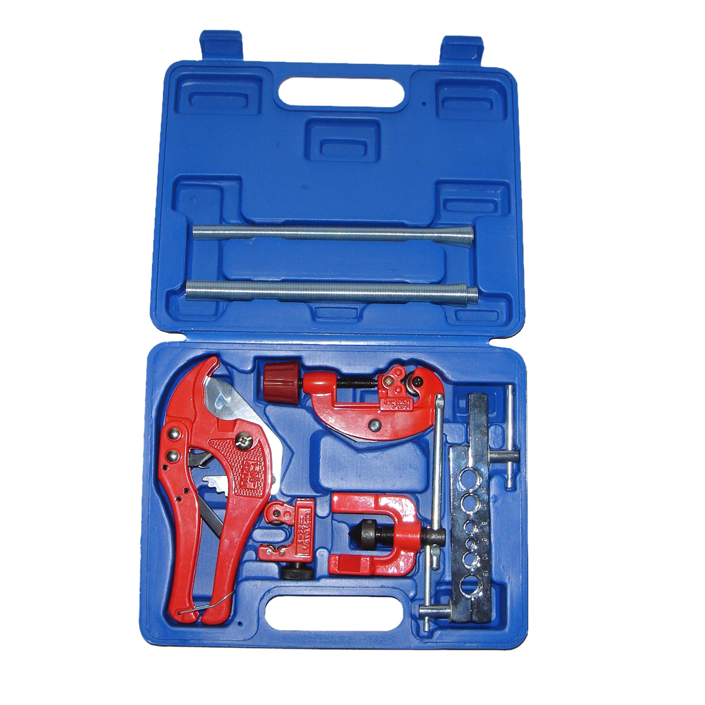 цены Flaring Tool Kit PVC Pipe Cutter & Spring Tube Bender Copper Tube Cutter