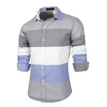 Neue Heiße Ankunft Mode Große Streifen Männer Shirts Langarm Baumwolle Slim Fit Französisch Manschette Casual Male Social Dress Shirt