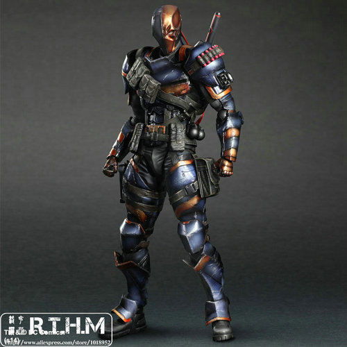 Play arts Kai Batman Arkham Origins Death Stroke Action Figure Anime Movie Model PVC Toys batman joker action figure play arts kai 260mm anime model toys batman playarts joker figure toy
