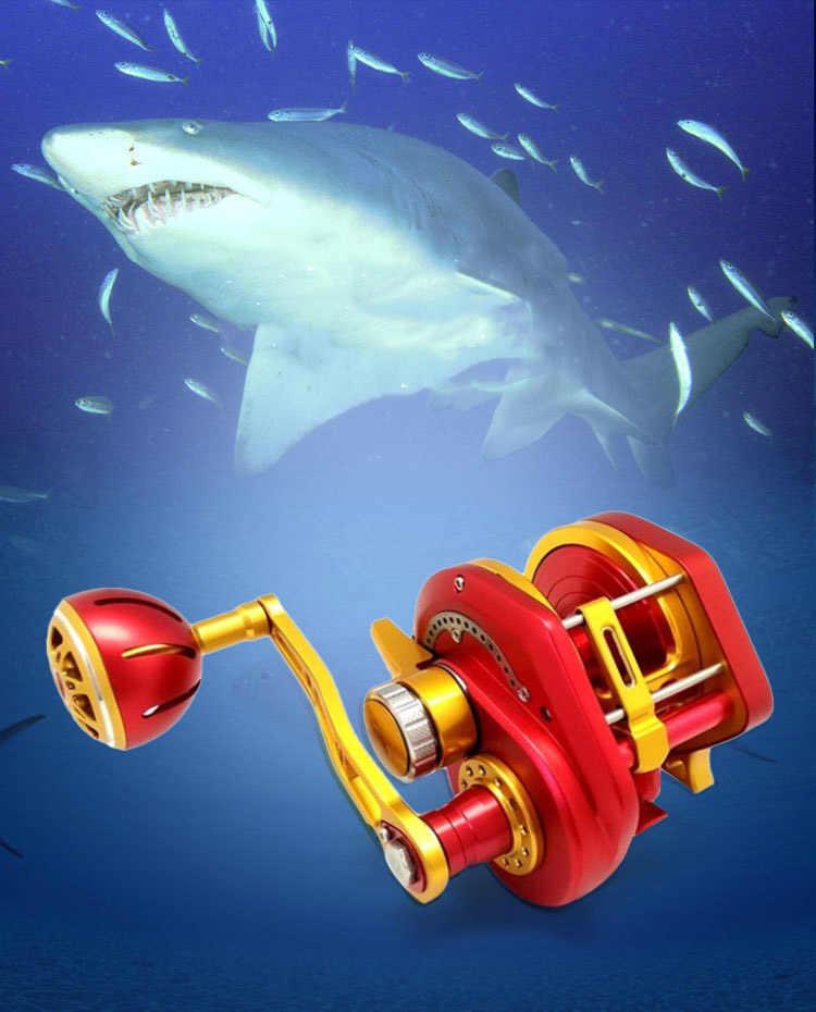 Topline Tackle Automatische Lijn Gids Jigging Reel Saltwater Boot Vissen Reel Langzame en Snelle CNC Aluminium Volledig Metalen 13 + 2BB