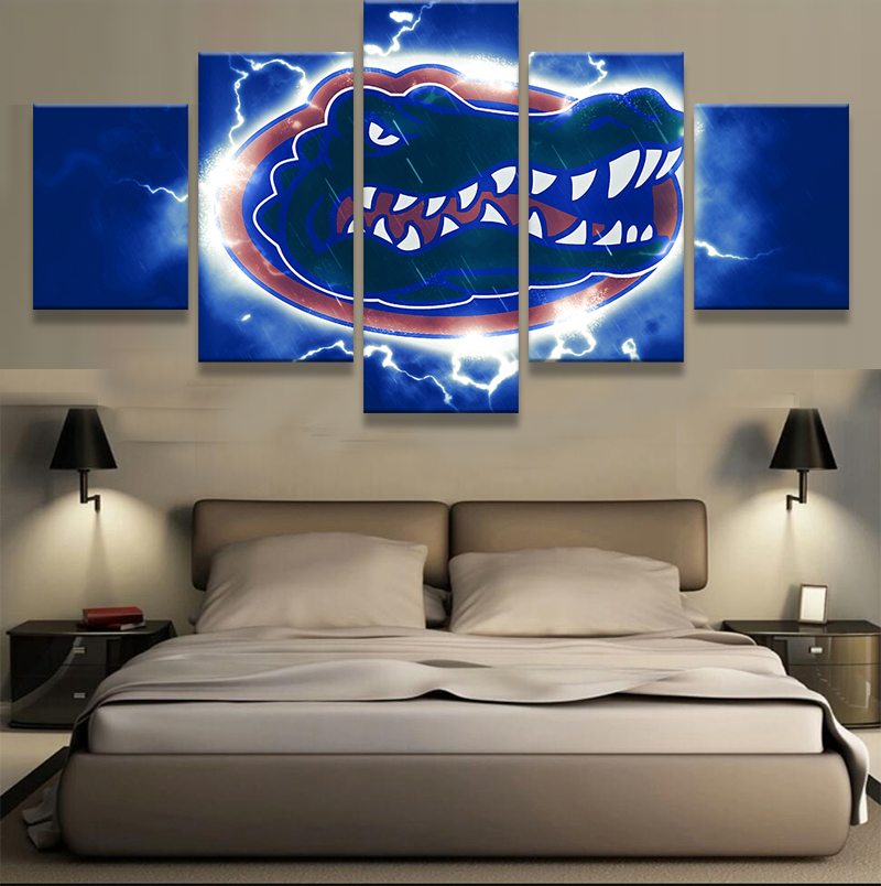 Florida Gator Wall Art online shop 5 panel florida gators sports logo oil painting home