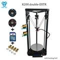 O Mais Novo post reprap HE3D K200 delta dupla extrusora prusa i3 DIY 3 Dprinter com cama de calor, mais melhorias e maior precisão
