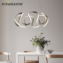 Home Luminaires Modern Led Pendant Lights For Dining room Kitchen Living room Lights Ceiling Mounted Fixtures Pendant Lamp Gray стоимость