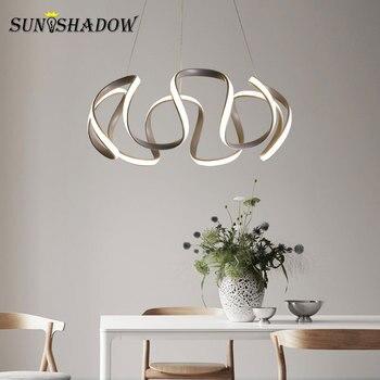 Luminarias para el hogar modernas luces colgantes Led para ...