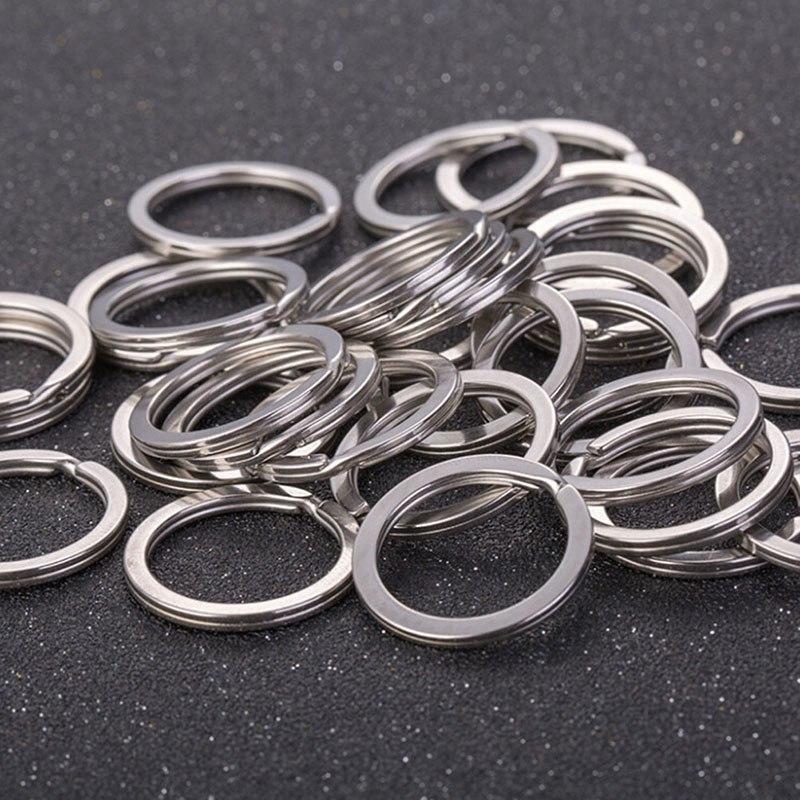 10PCS Heart Metal Key Holder Split Rings Keyring Keychain Hoop Loop DIY ci