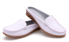 Women sandals summer half slippers flip flops Genuine Leather sandals clogs Shoes Woman Plus Size 35-41 p3d18