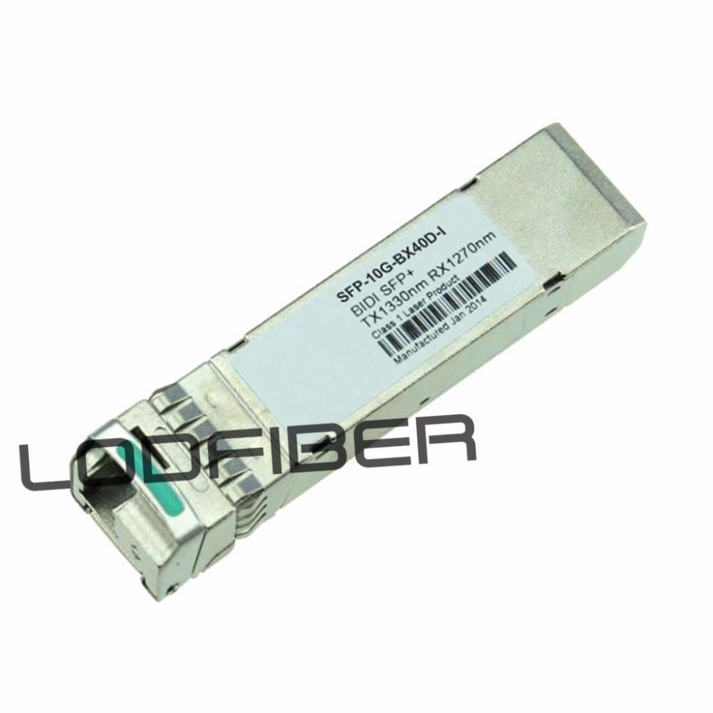 sfp 10g bx40d i - Cisco SFP-10G-BX40D-I Compatible 10GBASE-BX40-D SFP+ 1330nm-TX/1270nm-RX 40km DOM Transceiver