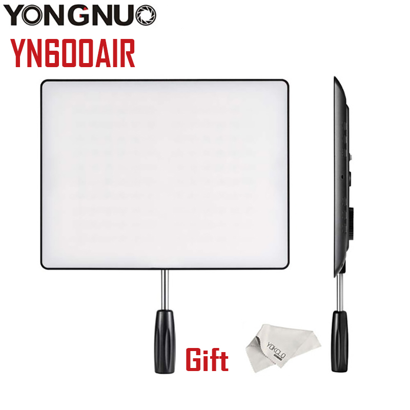 High Quality YONGNUO <font><b>YN600</b></font> <font><b>Air</b></font> 3200K-5500K LED Camera Video Light Photography Studio Lighting For Canon NIKON DSLR Camcorder image