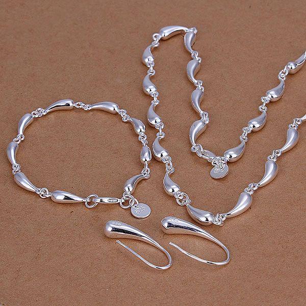 S188 Lovely Silver plated jewelry sets silver 925 jewelry Droptear Earrings Bracelet Necklace S188 /alvajdca axnajoua