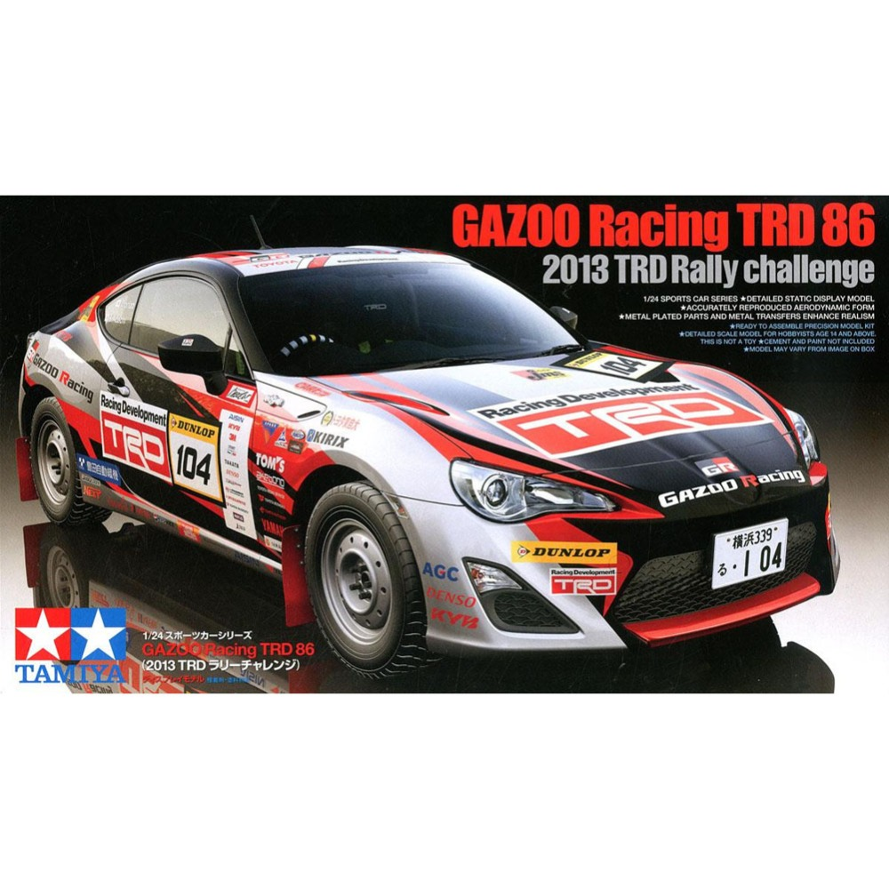 OHS Tamiya 24337 1/24 Gazoo Racing TRD 86 TRD Rally Challenge 2013 Scale Assembly Car Model Building Kits oh