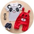 Baby Boy Одежда 2016 Новый Бренд Лето Детская Одежда Девушки картер Baby Boy Одежда для Младенцев Одежда для Девочек майка + Биб брюки