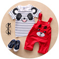 Baby Boy Clothes 2016 New Brand Summer Children Clothing Girls Carter Baby Boy Clothing Babies Clothes for Girl T shirt+Bib Pant