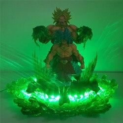 Dragon Ball Z broly Saiyajin evolución Led de luz de la noche de las cifras de la bola del dragón del Anime Super broly película Goku modelo de juguete figura DBZ