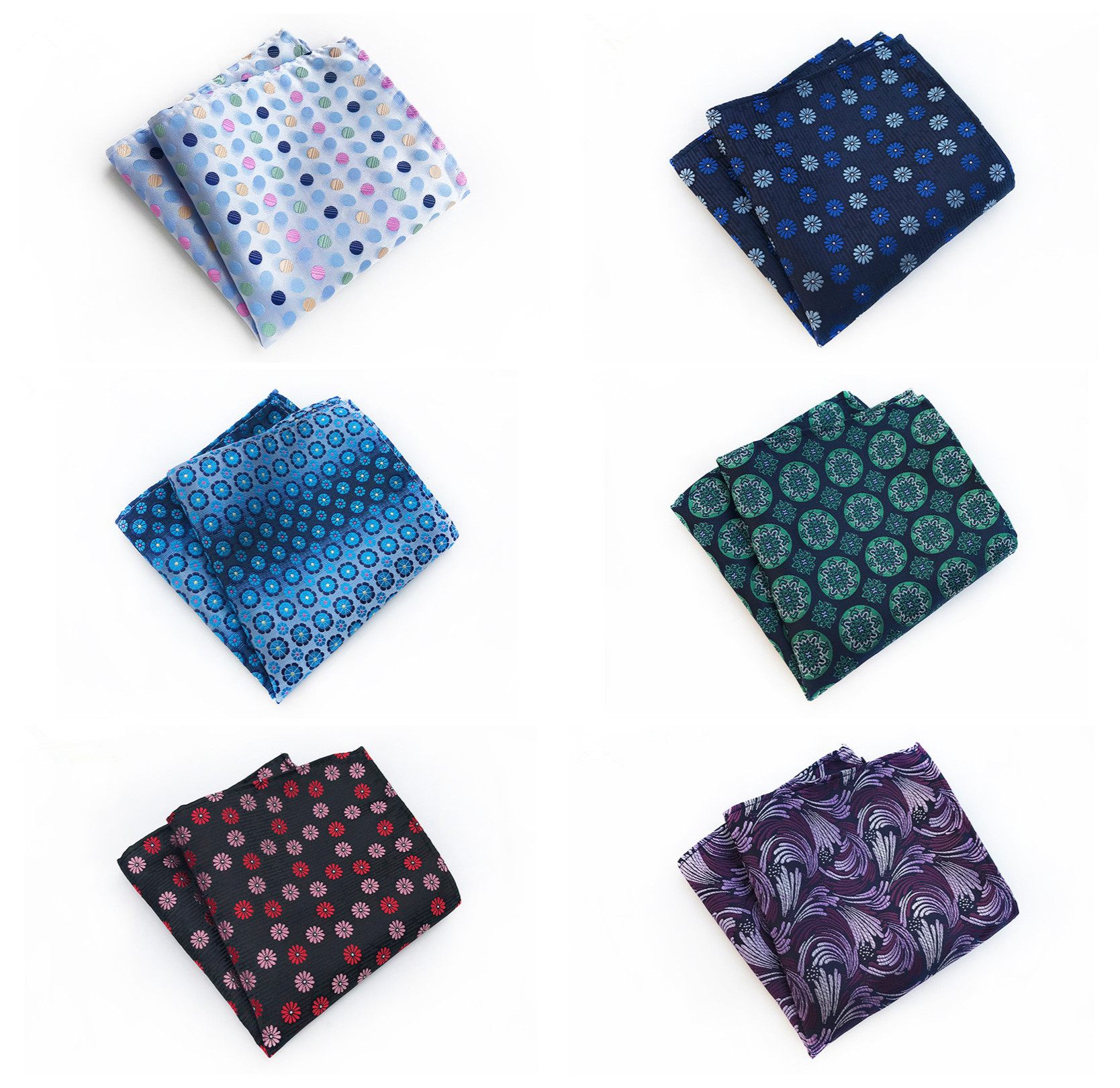 Men's Business Party Dresses Decorative Pocket Towels 2020 Fashion New Polyester Material Fashion Floral Set Pocket Towel
