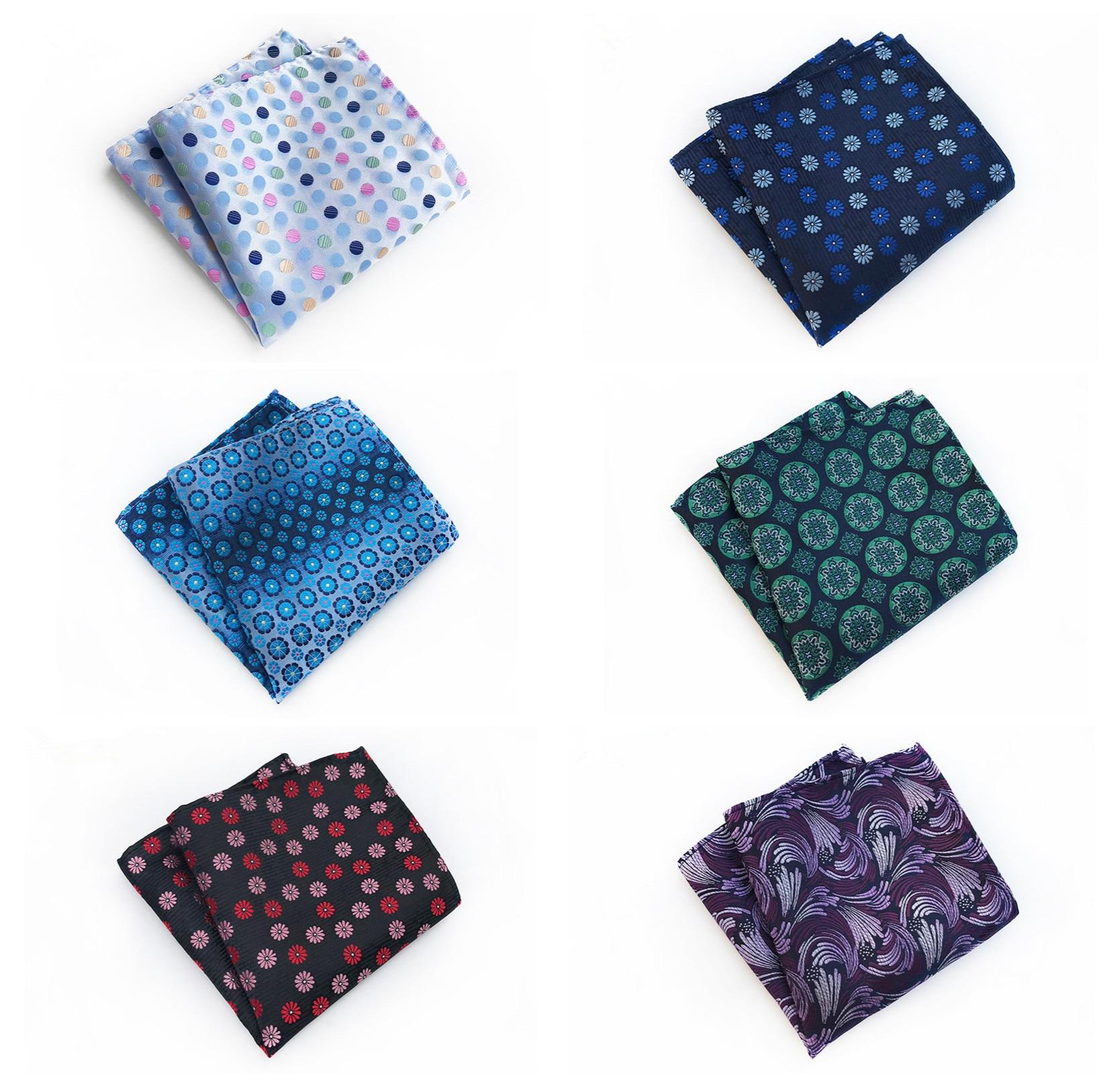 Men's Business Party Dresses Decorative Pocket Towels 2020 Fashion New Polyester Material Fashion Floral Set Pocket Towel