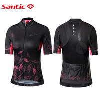 Santic Spring summer Pro Women Cycling Short Jerseys 2019 MTB Road Bike Shirt Downhill Breathable Jersey Fit Ladies Equipment