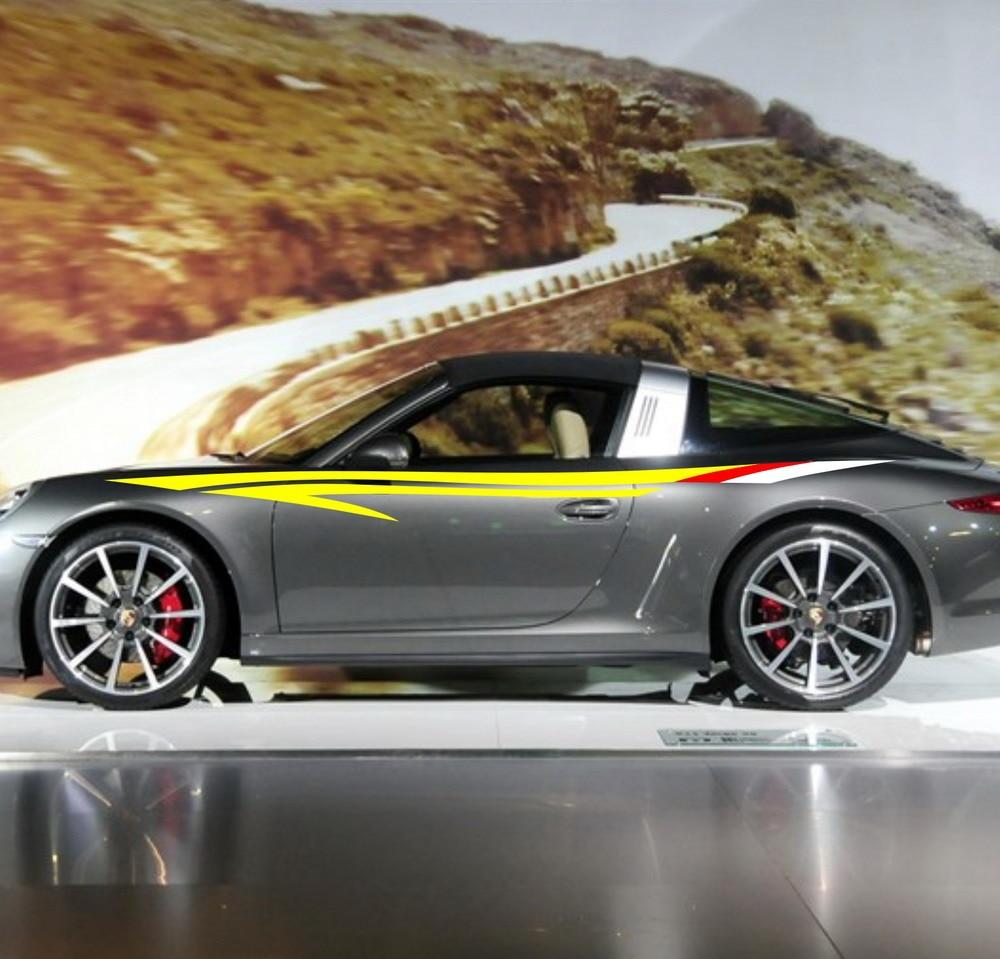 Car stripe racing 110 upper door decals for 911 vinyl graphics motor side sticker zc558