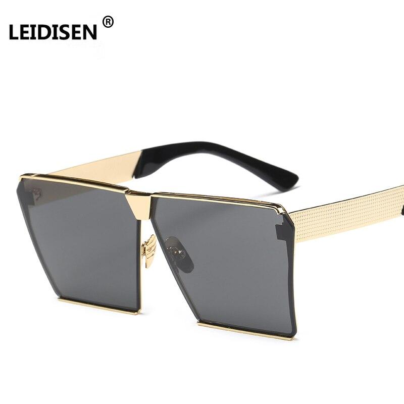 LEIDISEN NEW Oversized Women Sunglasses Unique Brand Designer Sunglass Vintage Eyeglasses Frames For Women Top Quality  UV400
