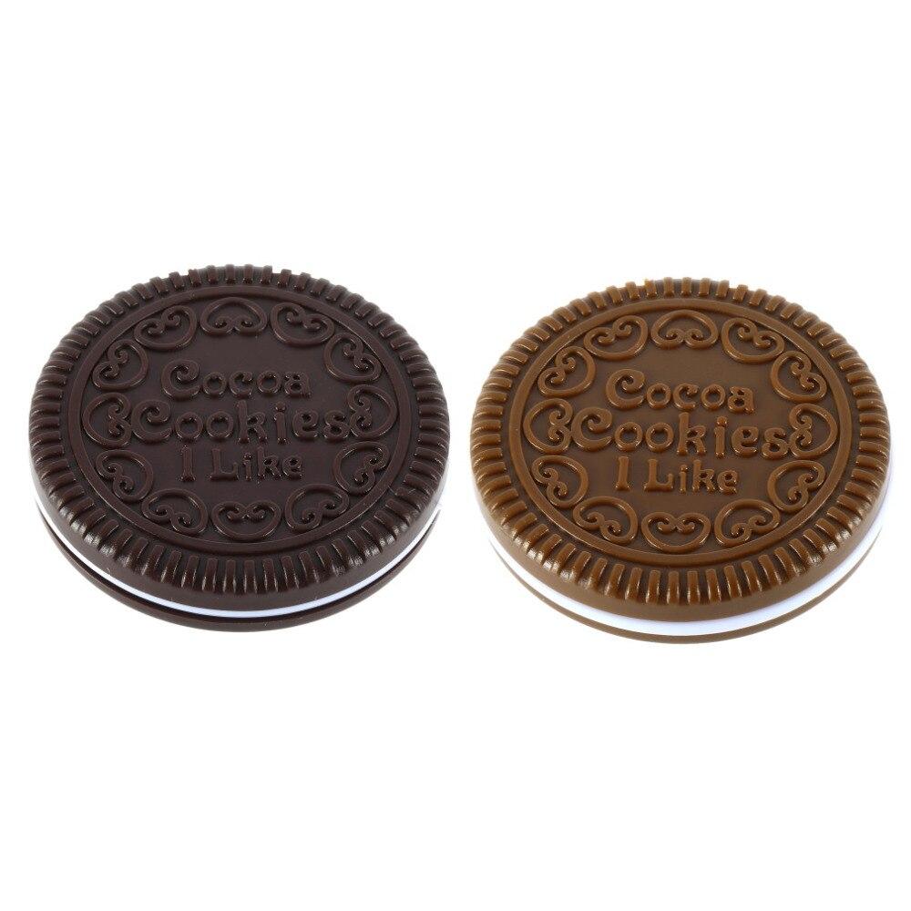 Schönheit & Gesundheit WohltäTig Neue Ankunft Braun Niedlich Cookie Design Spiegel Make-up Schokolade Comb Reise Taschen Faltbare Make-up Spiegel