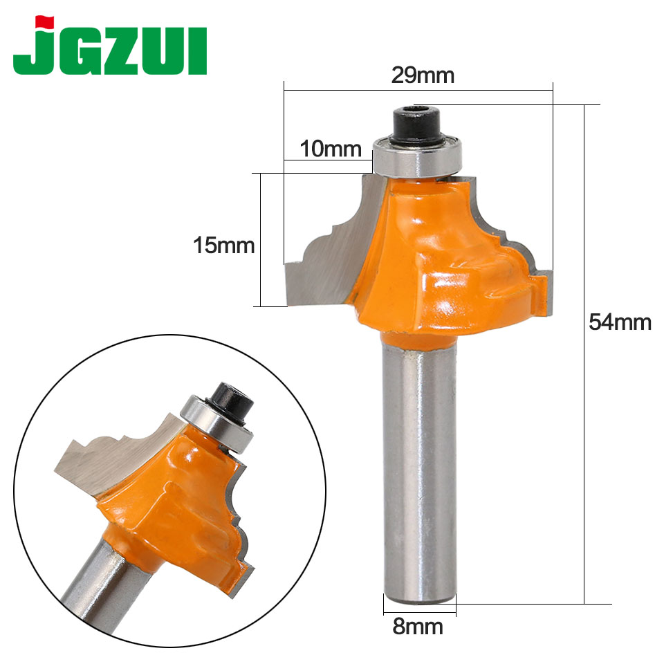 1pc 8mm Shank Wood Router Bit Straight End Mill Trimmer Cleaning Flush Trim Corner Round Cove Box Bits Tools Milling Cutter