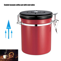 Coffee Jar Sugar Bottles Tea Storage Sealed Canister With Exhaust Valve Stainless Steel Pot Home Kitchen Accessories Hog