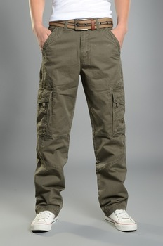Mens Cargo Pants Casual Mens Pant  Baggy Regular Cotton Trousers Male Combat  Military Tactical Pants with Multi Pockets Cargo Pants
