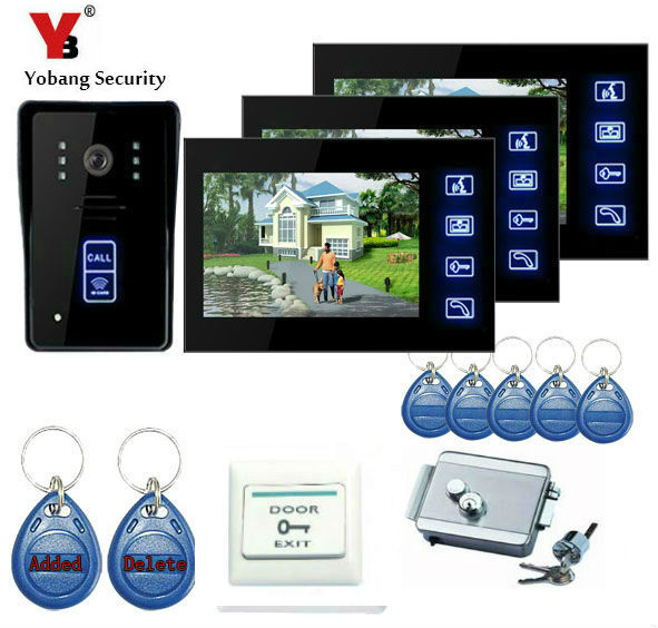 Yobangsecurity 7inch Wired Digital Door Phone Video Intercom Entry