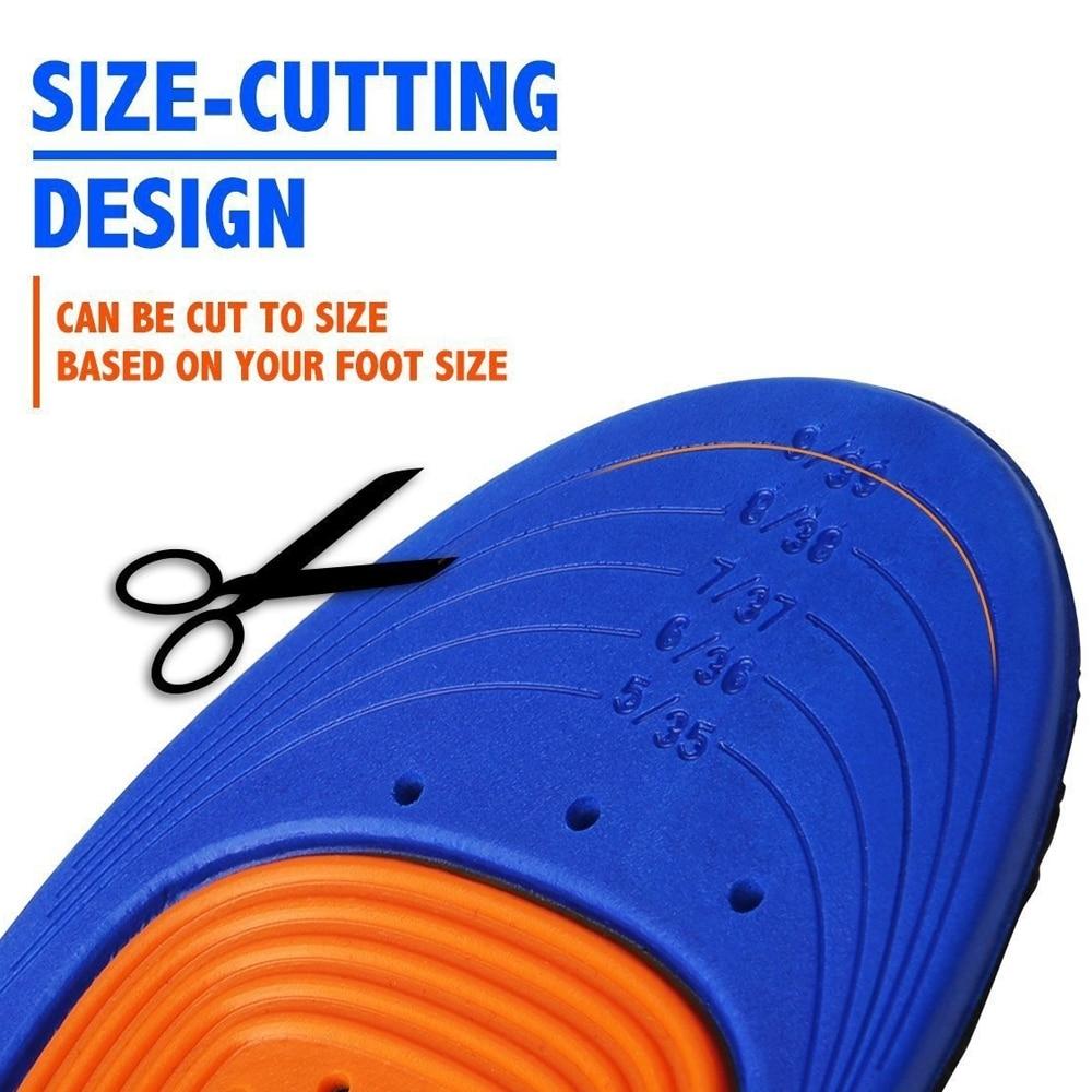 Масштабируемый силиконовая гелевая обувь вставками обувь Удобные стельки Поддержка стельки Orthotic Арка 1 пара ортопедическая стелька