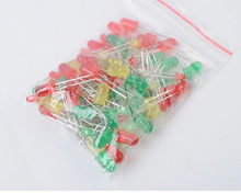 100pcs Light Emitting Diode LED 5mm 3mm Red Green Yellow