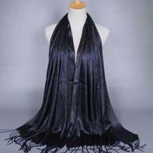 MSAISS 180*60 женский шарф с кисточками золотистой нитью, женский шарф-шаль, Элегантный удлиненный шейный платок B324