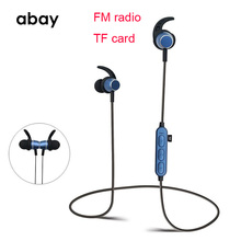 7becf992dfe Bluetooth wireless Hifi Bass Earphone with Mic TF sd Card FM radio sports headphones  Headset Earbuds