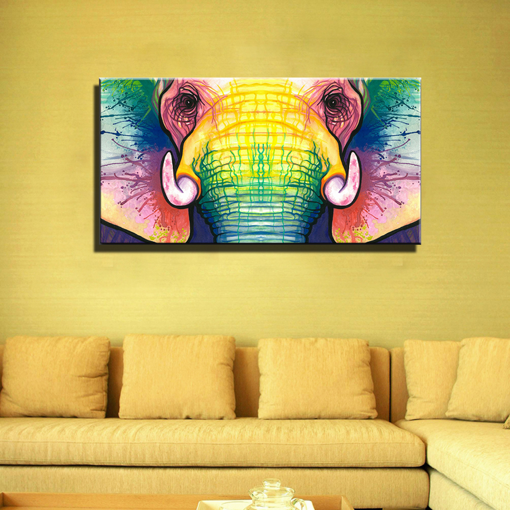 Large Painting For Living Room Aliexpresscom Buy Large Single Abstract Modern African Animal