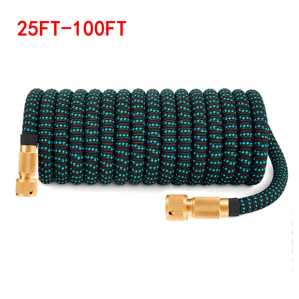25FT-100FT Garden Hose Extensible Watering Hose Fexible Extendable Car Wash Pipe Hoses Garden Supplies IrrigationTool