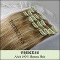 """Atacado 20 """" - 26 """" de Remy cabelo grampo em extensões 8 Pcs 105 g Mixed loiro # 27/613"""