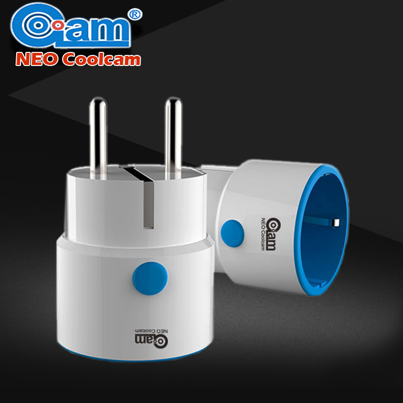 NEO COOLCAM Z-wave EU PLug Smart Power Plug Socket Home Automation Alarm System home Compatible With Z-wave 300 And 500 Series neo coolcam nas wr01ze z wave plus sensor smart home eu power plug z wave repeater extender outlet plug automation alarm system