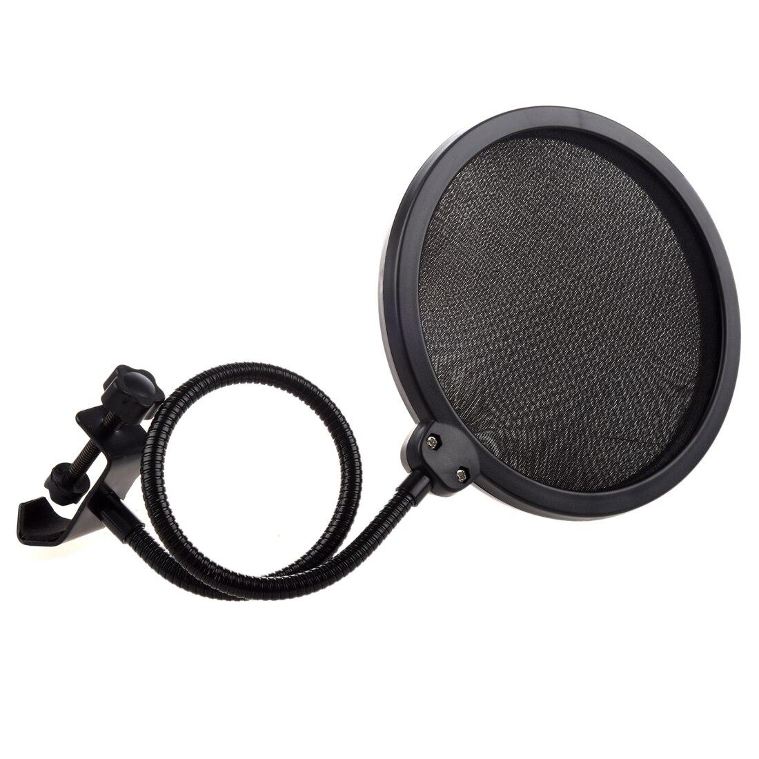 Studio Microphone Mic Vent Écran Pop Masque Filtrant Hésité