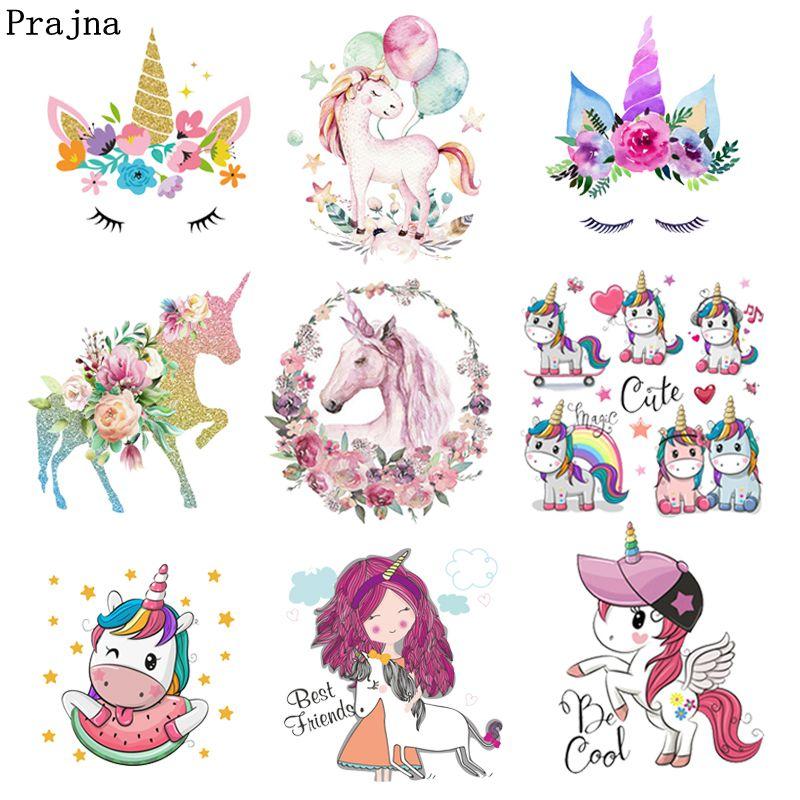 Unicorn Cat Iron On Patch Cute Pastel Pink Rainbow Kawaii Gift Clothing Transfer