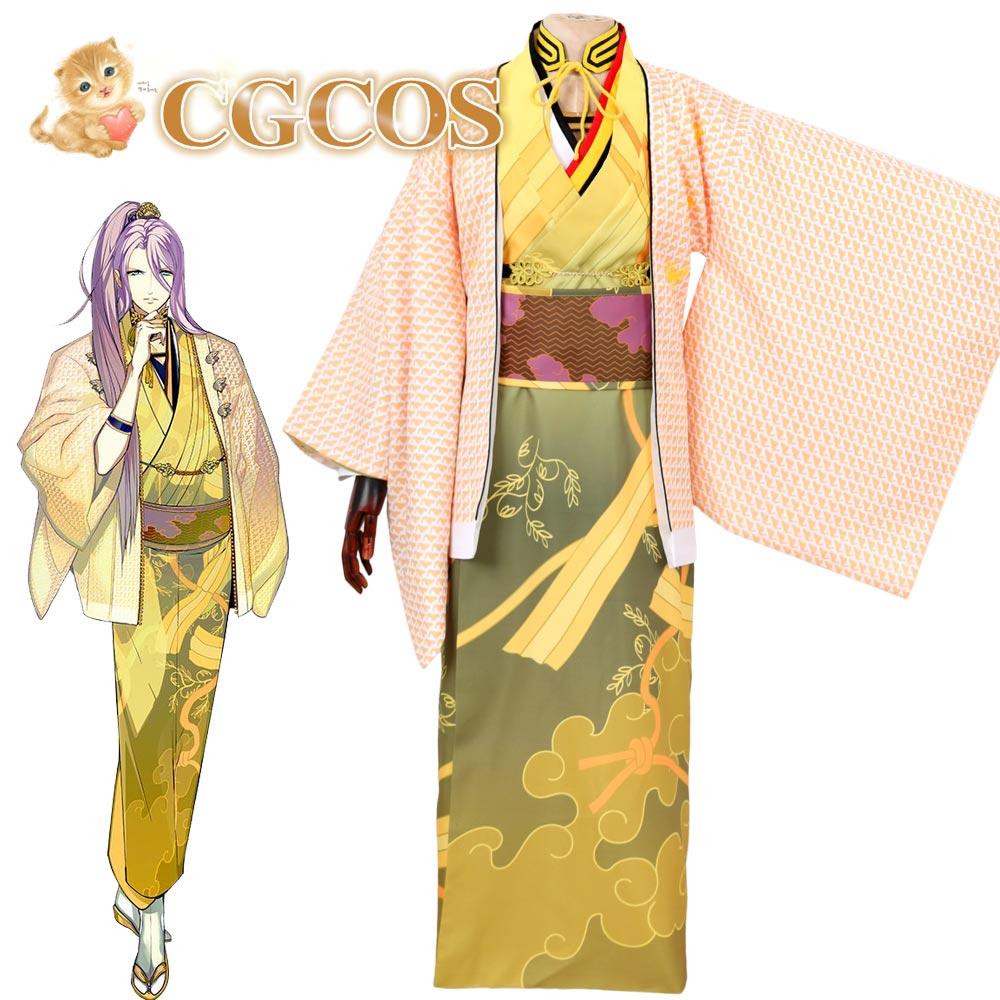 CGCOS Anime Cosplay Costume Touken Ranbu Online Hachisuka Kotetsu Uniform Jacket Shirt Coat Game Cos Daily Use