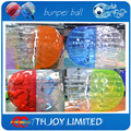 12pcs balls+2pcs air pump,1.5m Human Hamster Bumper Ball,Bubble soccer suit bubble football,inflatable body  ball