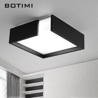BOTIMI Modern Iron LED Ceiling Lights Modern White Black Metal Ceiling Lamp Square Lamps For Room