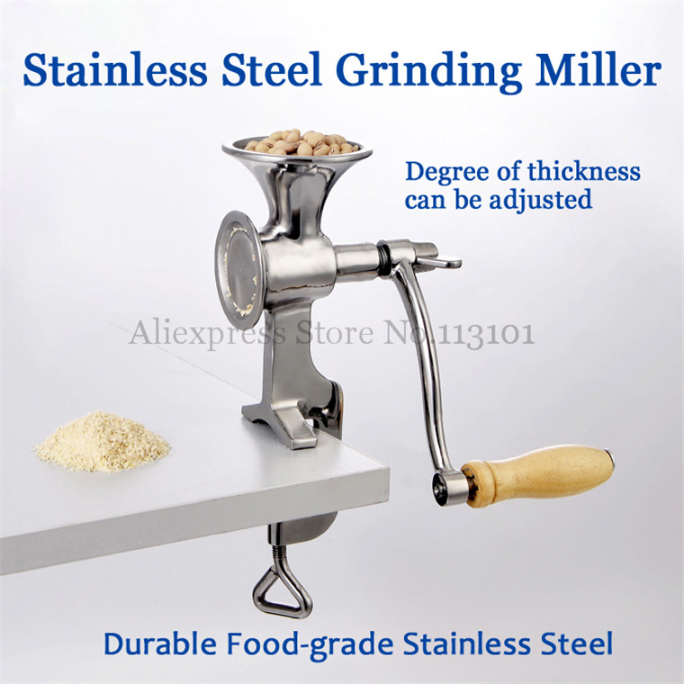 Stainless Steel Grinding Miller Corn Flour Mill Machine Coffee Bean Grinder Wheat Corn Flour corn flour mill rice milling machine home use manual pepper soybean wheat coffee bean grinder grinding machine zf
