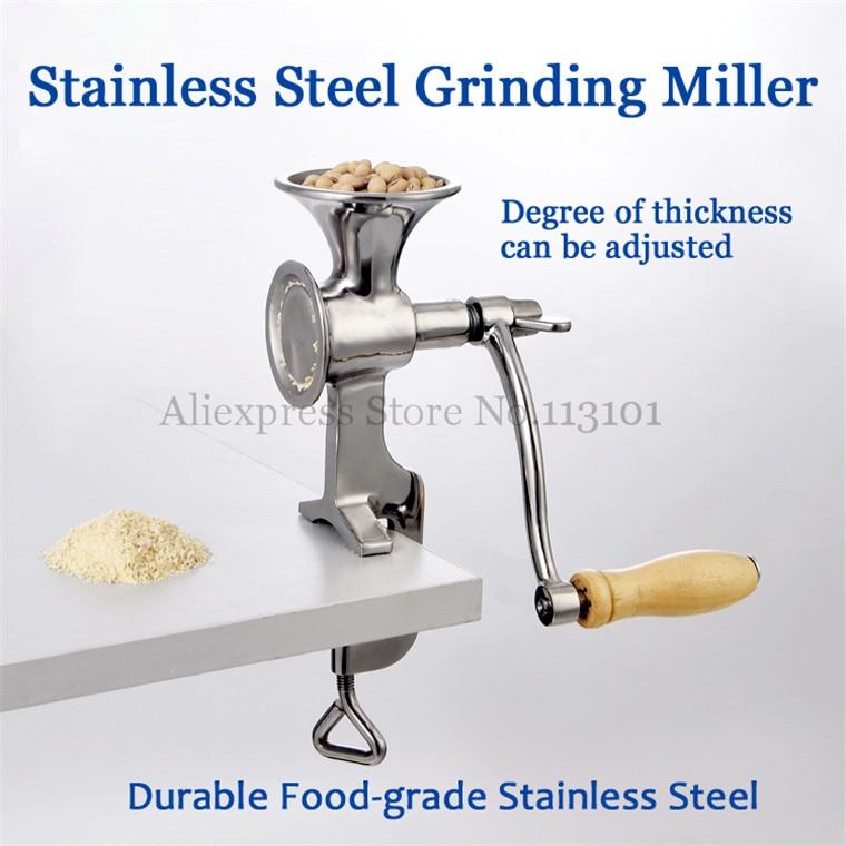 купить Stainless Steel Grinding Miller Corn Flour Mill Machine Coffee Bean Grinder Wheat Corn Flour недорого