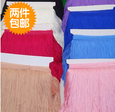 Brand new 12colors factory direct price tassel fringe trim 10meters/lot for belly dance Latin nightclub clothing accessories