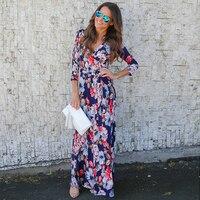 2XL Maxi Long Dress Large Size Women Dresses 2017 Summer Beach Dress BOHO Style Jurk Prom