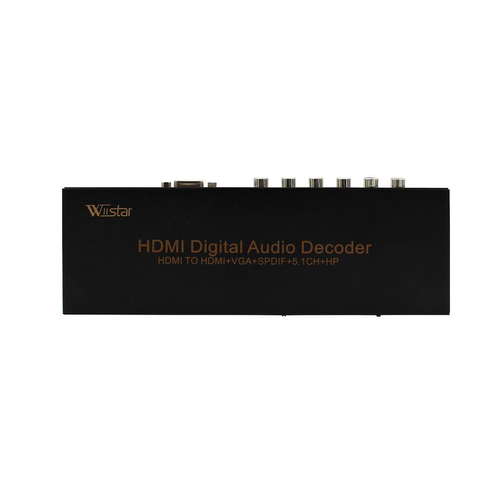 Prix pour Wiistar HDMI Numérique Audio Décodeur HDMI à HDMI/VGA/SPDIF/5.1 Surround Sound Converter Adaptateur Livraison Gratuite