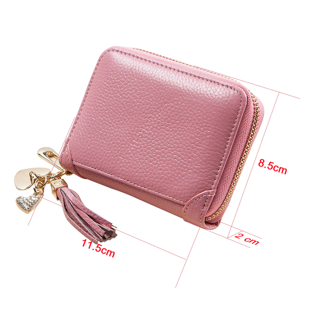 Tassel Leather Credit Card Holder