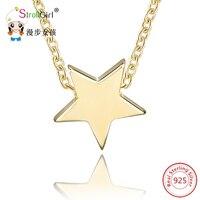 Hot Sale Pendant Necklaces 925 Sterling Silver Star Shape Pendants Chain Necklace For Women Authentic Silver